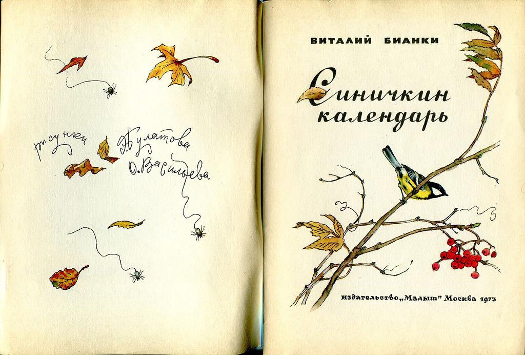 Синичкин календарь виталий бианки картинки